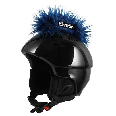Eisbär Irokese Helmaufkleber Helmsticker Aufkleber für Skihelm - Bild 1
