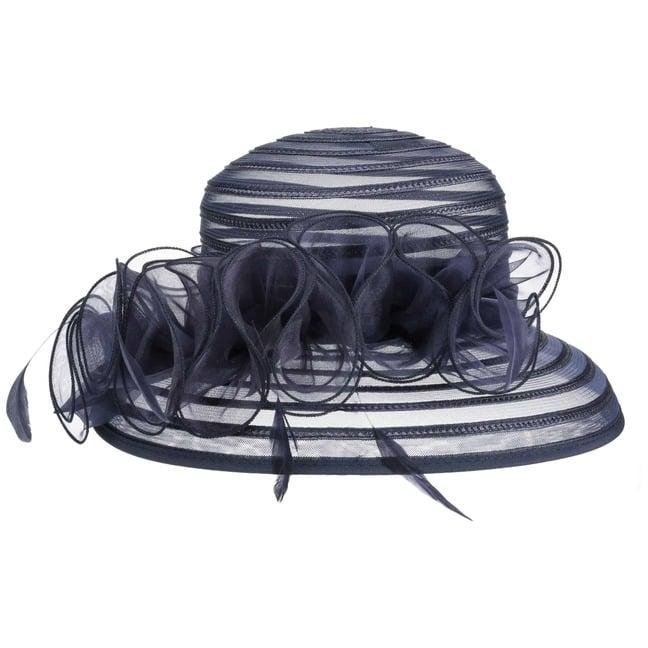 Amarna Anlasshut Federn - One Size - schwarz
