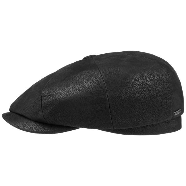 Stetson Hatteras Chevrette Leder Flatcap