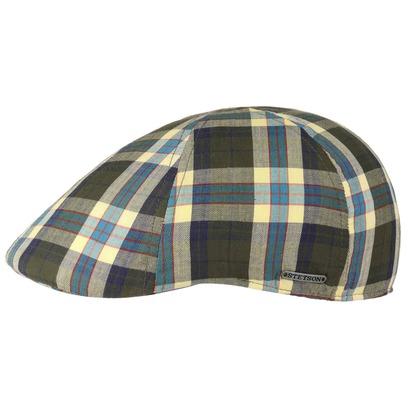 Stetson Texas Cotton Karo Flatcap Baumwollcap Schirmmütze Schiebermütze Sommercap Cap Mütze - Bild 1