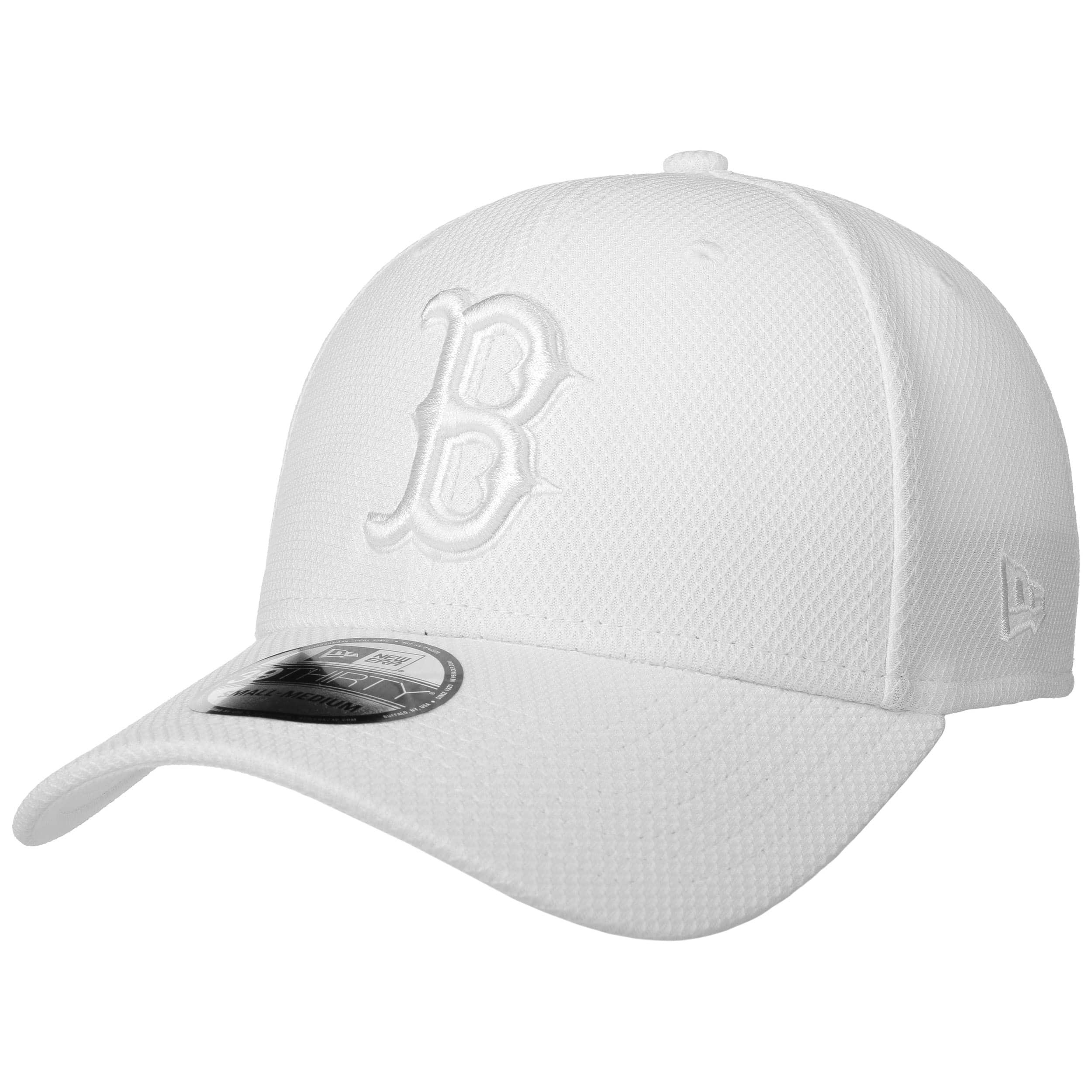 39Thirty Diamond Red Sox Mono Cap by New Era - white 1 01b616d5c1b