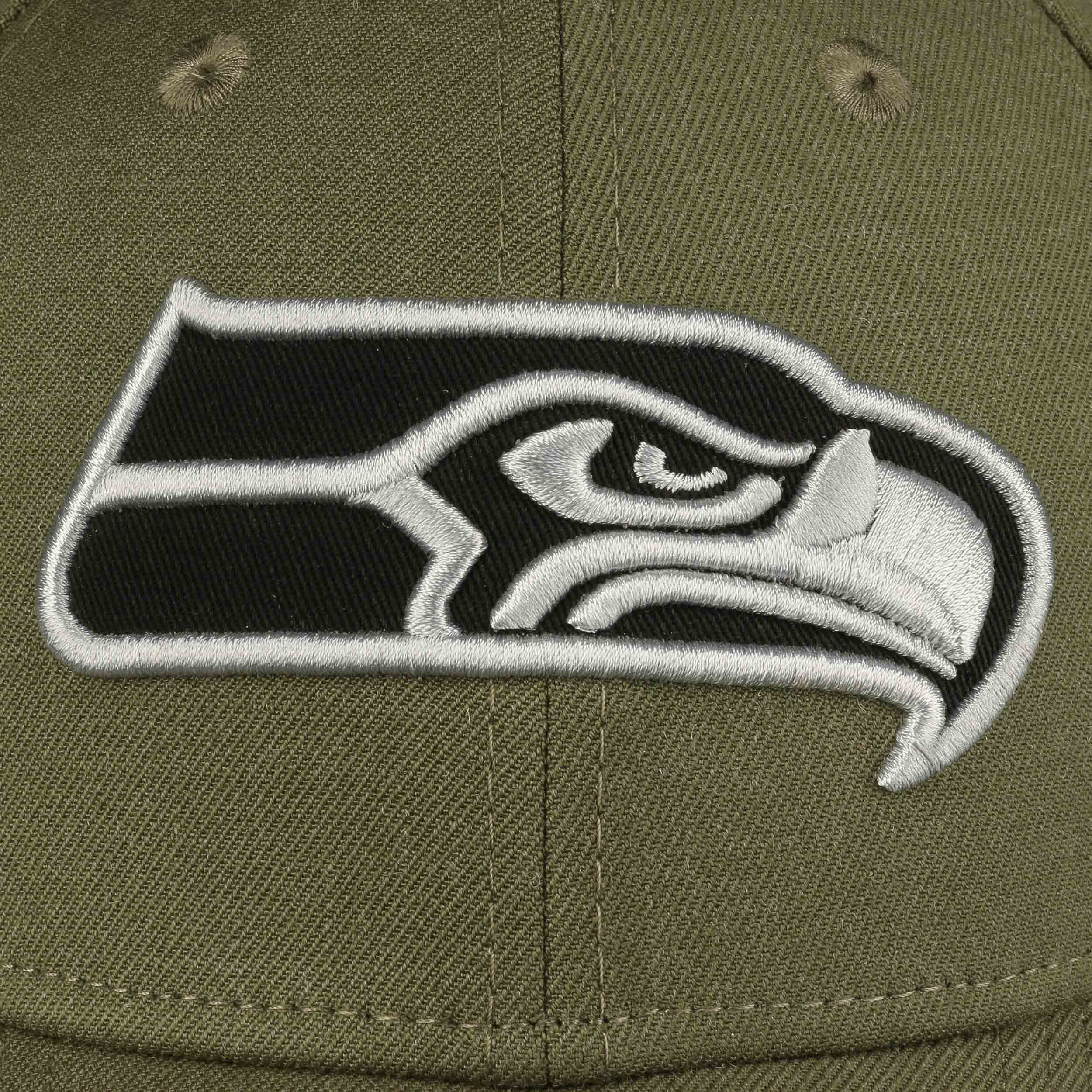 new style 18a7e d2b65 ... 39Thirty Heather Ess Seahawks Cap by New Era - olive 3 ...