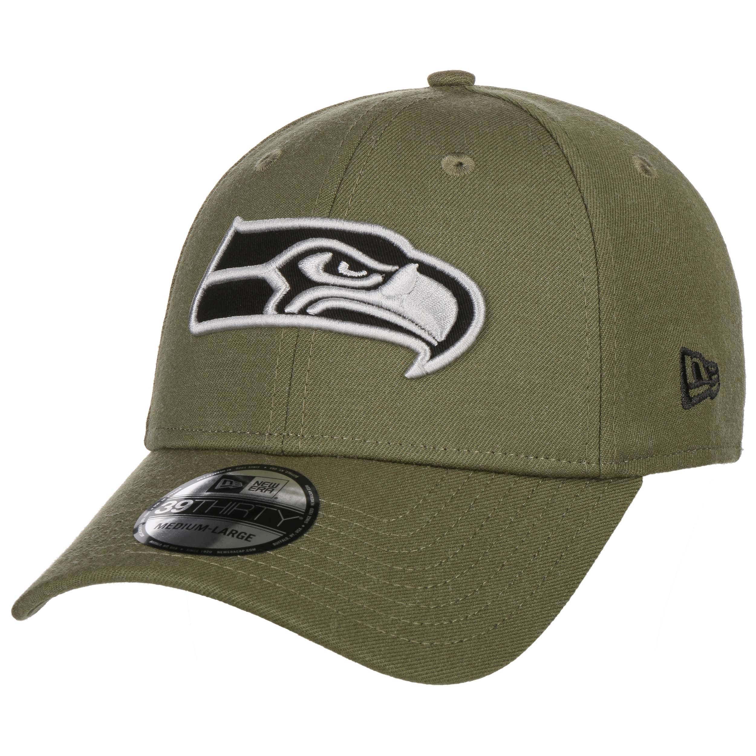 New Era 39Thirty Cap NFL Seattle Seahawks oliv