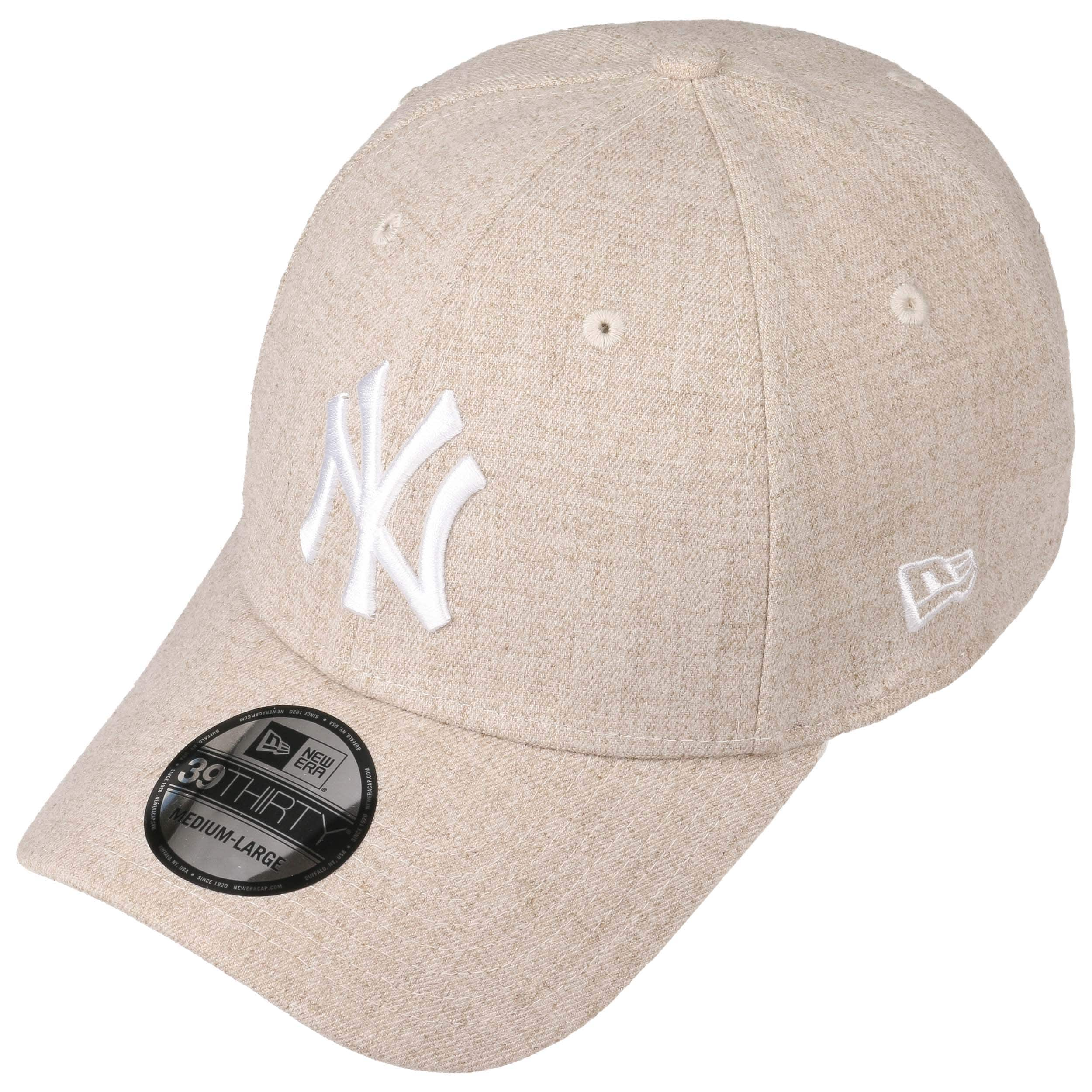 22eda24c530d 39Thirty Yankees Heather Cap by New Era - beige 1 ...
