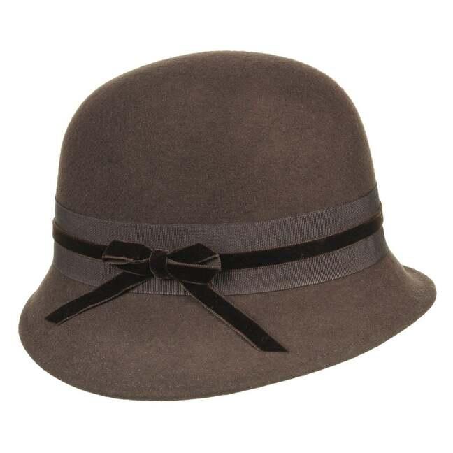 Filzglocke Damenhut Bronté - 57 cm - schwarz