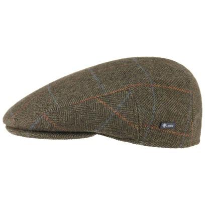 Lipodo Flatcap mit Karomuster Schirmmütze Schiebermütze Wollcap Wintercap - Bild 1