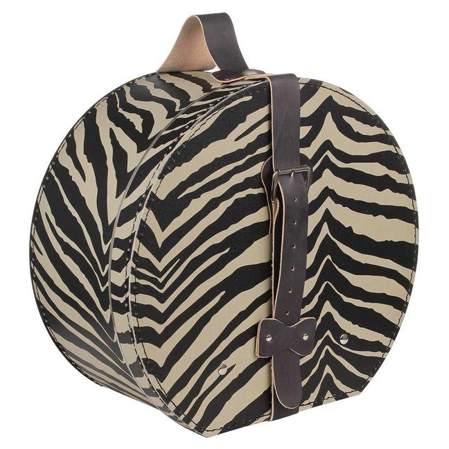 Hutschachtel Zebramuster - - beige