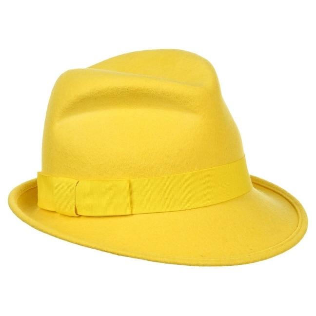 Marijke Damenhut Wollfilz Bronté - One Size - gelb