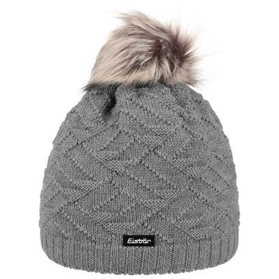 Eisbär Pelita Faux Fur Pompon Damenmütze Bommelmütze Strickmütze Mütze Kunstfellbommel - Bild 1