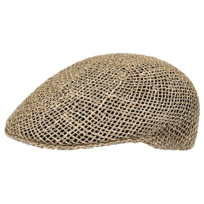 Lipodo Basic Strohflatcap Flatcap Strohcap Sommercap Schirmmütze Schiebermütze - Bild 1