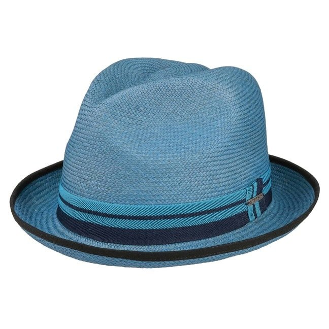 Neples Panama Trilby Hut Stetson - M/56-57 - blau
