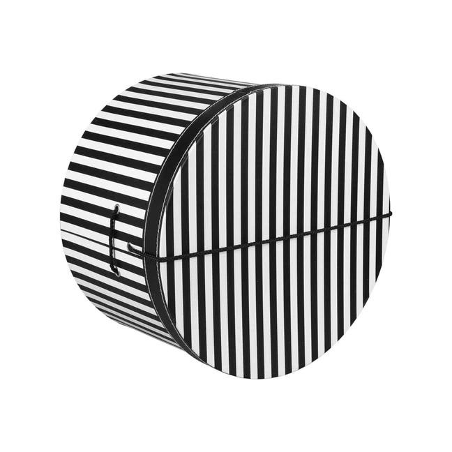Hutschachtel Hutbox Streifen 31 cm - - schwarz-wei