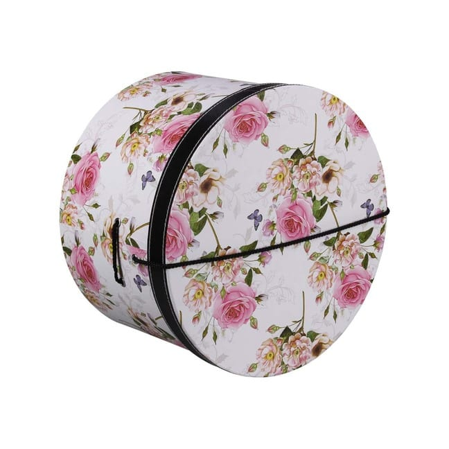Hutschachtel Hutbox Pink Flowers 31 cm - - wei