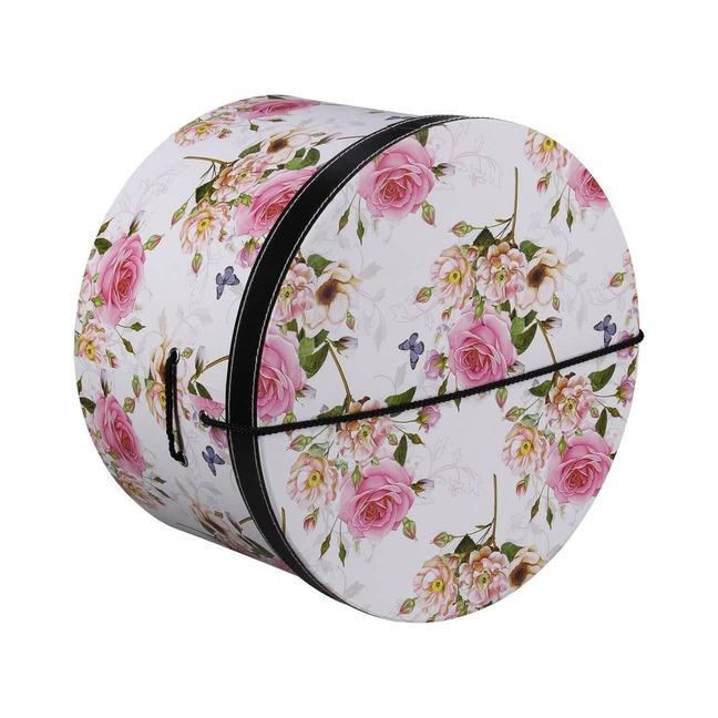 Hutschachtel Hutbox Pink Flowers 34 cm - - wei