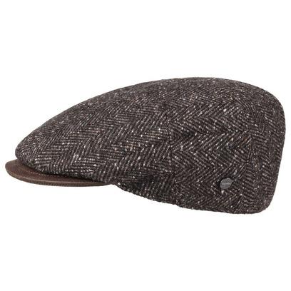 Lierys Fischgrät Tweed Flatcap Schirmmütze - Bild 1