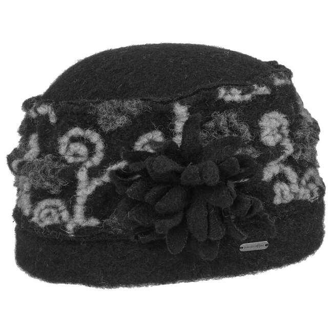 Solisa Walkmütze Damenhut Lana Cotta McBURN - One Size - schwarz