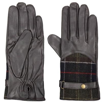 Dee Tartan Herrenhandschuhe Lederhandschuhe Barbour - Bild 1