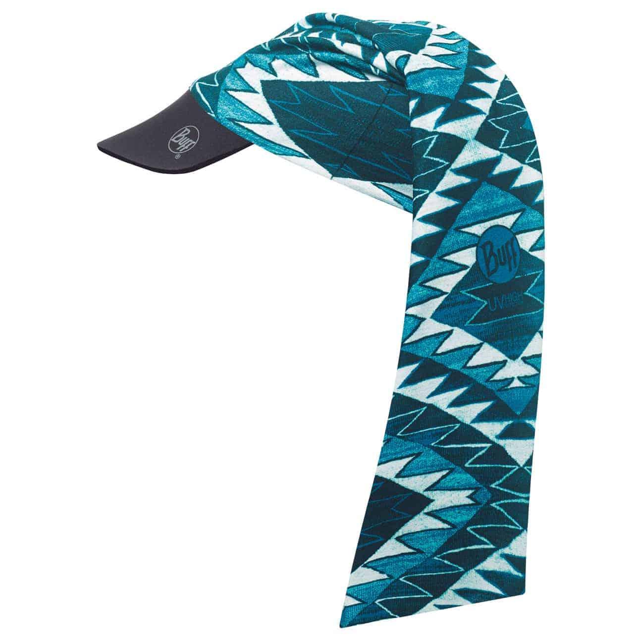 Artikel klicken und genauer betrachten! - Am Strand immer die allererste Wahl ist die Sonnencap von Buff mit coolem Aztekenmuster. Der Sportvisor mit bequemem Neopren-Softschirm ist aus dehnbarer, nahtloser und pflegeleichter Mikrofaser hergestellt und kann wahlweise als Cap oder Headband mit Schirm getragen werden. Coolmax®-Qualität und UV-Filter schützen bei allen Outdoor-Aktivitäten vor Wettereinflüssen wie Sonne und Regen. Dabei bleibt die leichte Sommerkappe atmungsaktiv und feuchtigkeitsregulierend und überzeugt mit einer antibakteriellen Frischewirkung. Das einzigartige Original von BUFF®!   im Online Shop kaufen