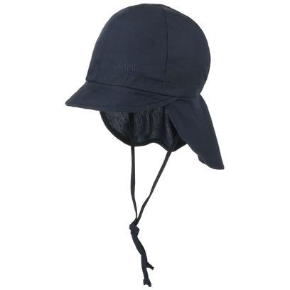 maximo Kinder Cap Uni mit Nackenschutz Sonnenschutz-Cap Sommercap Kindercap Kindermütze