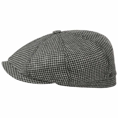 Stetson Hatteras Houndstooth Flatcap Seidencap Schirmmütze Ballonmütze - Bild 1