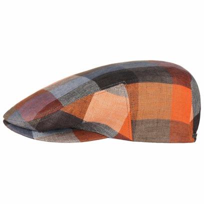 Stetson Kent Leinencap Schirmmütze Schiebermütze Colour Checks Flatcap - Bild 1