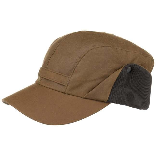 Wax Westoe Cap mit Ohrenklappen Basecap Baseballcap Outdoorcap gewachst mit Ohrenschutz Barbour