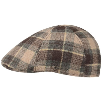 Stetson Texas Woolrich Check Gatsby Cap Wollcap Schirmmütze Schiebermütze - Bild 1