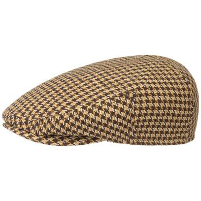 Stetson Kent Silk Houndstooth Flatcap Schirmmütze Schiebermütze Hahnentritt Seidencap - Bild 1