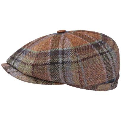 Stetson Hatteras Virgin Wool Check Cap Flatcap Ballonmütze Schirmmütze Schiebermütze Wollcap - Bild 1