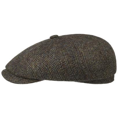 Stetson Hatteras Harris Tweed Newsy Cap Ballonmütze Flatcap Schirmmütze Wollcap Schiebermütze - Bild 1
