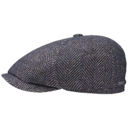 Stetson Ore Colour Spots Flatcap Schirmmütze Schiebermütze Wollcap Mütze Fischgrat - Bild 1