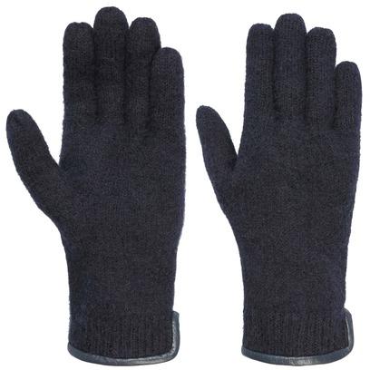 Woolmark Walkhandschuhe mit Lederpaspel Damenhandschuhe Fingerhandschuhe Wollhandschuhe