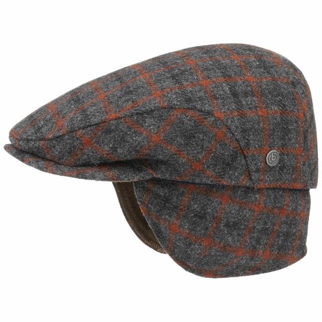 Gentle Flatcap mit Ohrenklappen Schirmmütze Schiebermütze Wollcap Cap Mütze Kappe bugatti