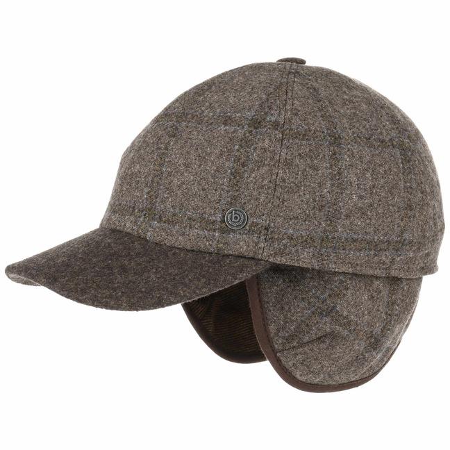 Patrick Cap mit Ohrenklappen Wollcap Wintercap Basecap Baseballcap Kappe mit Ohrenschutz bugatti