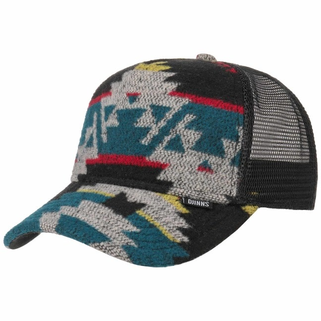 Djinns Aztec Felt HFT Trucker Cap Meshcap Mesh ...
