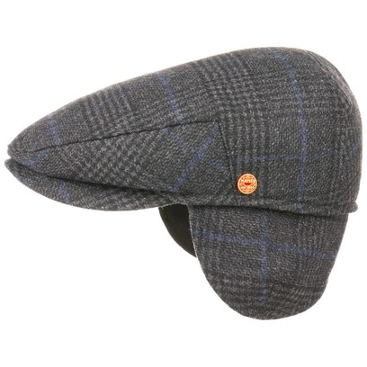 Mayser Merlino Flatcap mit Ohrenklappen Schirmmütze Schiebermütze Wintermütze Wollcap Wollmütze - Bild 1