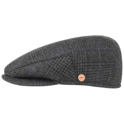 Mayser Merlino Glencheck Flatcap Schirmmütze Mütze Cap Schiebermütze Kappe Wollmütze - Bild 1