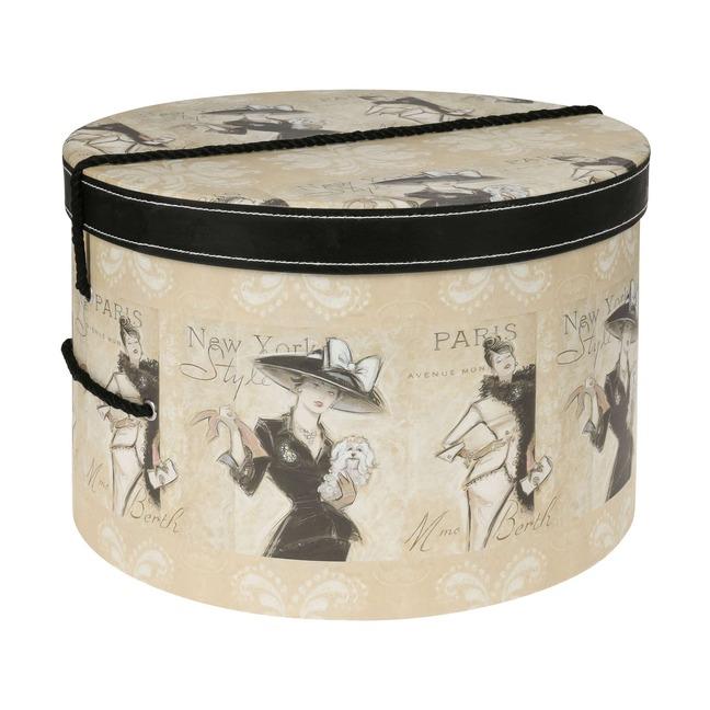 Hutschachtel Hutbox Hutkoffer Madame 31 cm - - beige