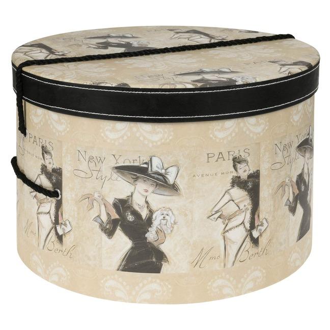 Hutbox Hutschachtel Madame Hutkoffer 42 cm - - beige