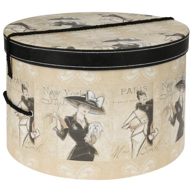 Hutschachtel Hutbox Hutkoffer Madame 44 cm - - beige
