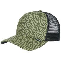 Djinns HFT Geometric Snapback Cap High Fitted Basecap Meshcap Truckercap Mesh Trucker Kappe