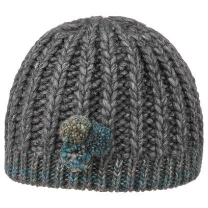 Lierys Mini-Pompon Strickbeanie Beanie Mütze Wollmütze Bommelmütze Wintermütze Alpakamütze - Bild 1