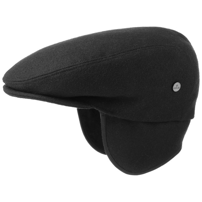 Teflon Flatcap mit Ohrenklappen Schirmmütze Schiebermütze Cap Regencap Lierys
