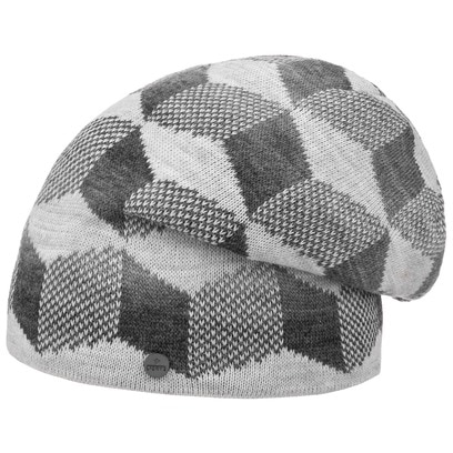 Lierys Cubes Long Beanie Strickmütze Wintermütze Mütze Oversize Strickbeanie - Bild 1