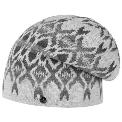 Lierys Aztec Long Beanie Strickmütze Mütze Oversize-Mütze Damenmütze Herrenmütze Wollmütze - Bild 1