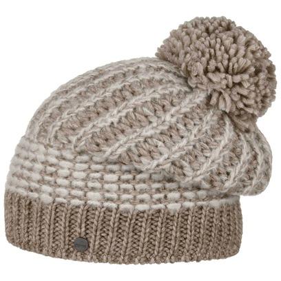 Lierys Mohair Twotone Bommelmütze Beanie Strickmütze Wintermütze Mütze Damenmütze Skimütze Wollmütze - Bild 1