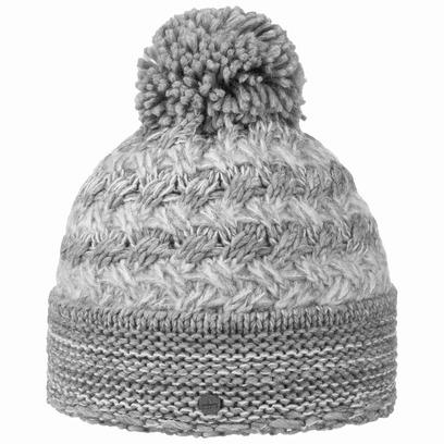 Lierys Mohair Stripes Bommelmütze Beanie Strickmütze Wintermütze Damenmütze Mütze - Bild 1