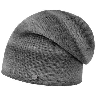 Lierys Melange Stripes Oversize Mütze Long Beanie Wollmütze Wintermütze Damenmütze