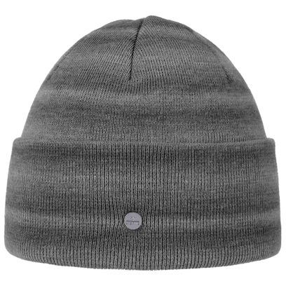Lierys Stripes Melange Umschlagmütze Strickmütze Beanie Wintermütze Wollmütze Mütze Damenmütze - Bild 1