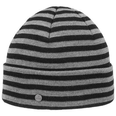 Lierys Merino Stripes Umschlagmütze Strickmütze mit Umschlag Wintermütze Wollmütze - Bild 1